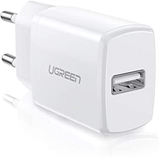 UGREEN Caricatore USB 10W 5V 2A Caricabatterie USB da Muro Compatible with iPhone 8,7,7 Plus, 6 Plus, 6s, iPod, Samsung S6...