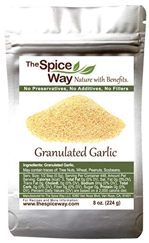 The Spice Way Granulated Garlic - 8 oz resealable bag