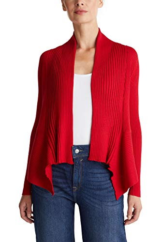 ESPRIT Damen 998Ee1I803 Strickjacke, Rot (Red 3 632), Medium (Herstellergröße: M)