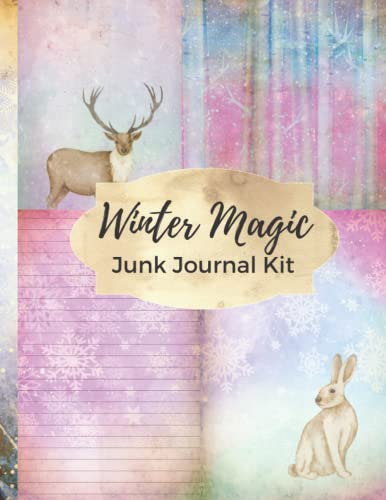 Compare Textbook Prices for Winter Magic Junk Journal Kit: One-Sided Decorative Paper/Ephemera/Embellishments/Perfect For Scrapbooking, Card Making, Collage, Decoupage, Papercrafts  ISBN 9798487859907 by Crafts, Ephemera Castle