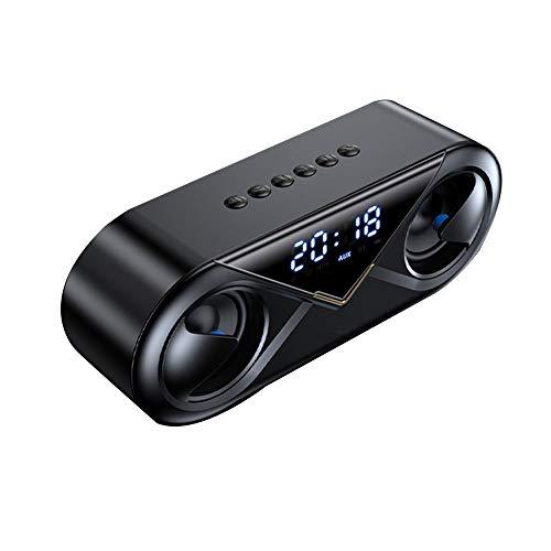 Altavoces Bluetooth, Bluetooth 5.0, Altavoz Portatil Bluetooth, Estereo, Al Aire Libre, con HD Audio Y Manos Libres, Radio FM Antena Construido, USB, Llamadas Manos Libres Y TF (Color : Black)