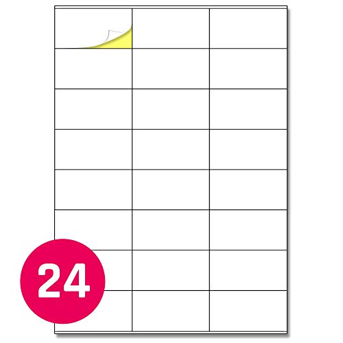 70 x 36 mm, 25 Blatt, A4 Aufkleber Etiketten Selbstklebend Adressetiketten Bedruckbar - 24 Stück pro Blatt