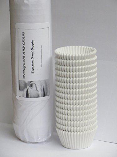 Mini Baking Cups, white 1-1/2 x 1'' = 3.5 appx. 500 pc.