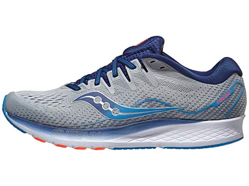 Saucony - Zapatillas Ride ISO 2 para hombre, Multicolor (Gris/ Azul), 43 EU