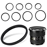 Adaptador de anillo de filtro, 8 piezas de anillos adaptadores de filtro de lente universal Kit de...