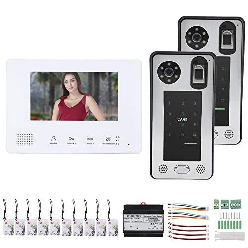 Jacksing Videoportero con Cable, Timbre con Video, LCD de 7 Pulgadas para Empresas para Apartamentos para viviendas para viviendas