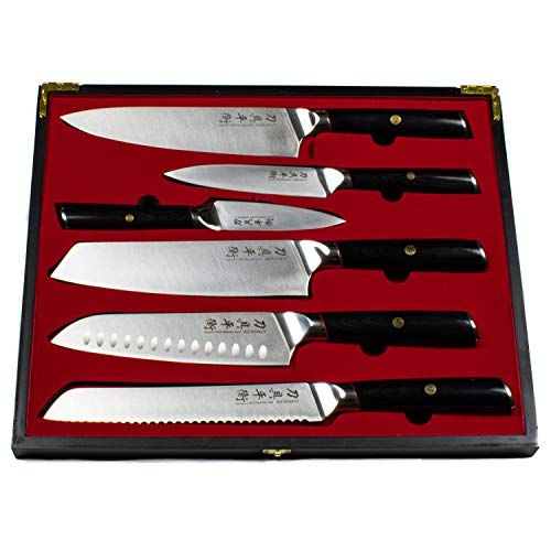 KENSHUI Küchenmesser 6er Set Profi Messer Koch Geschenk in hochwertiger Holzschachtel, limited Edition
