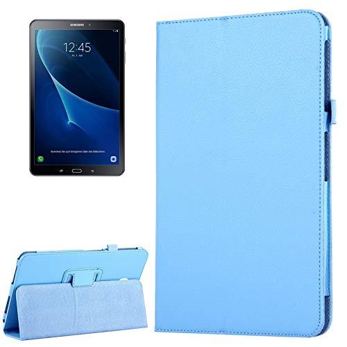 WEI RONGHUA Fundas de Tableta Samsung Galaxy Tab A 10.1 / T580 Litchi Textura magnética Horizontal Flip Funda de Cuero con Soporte y función de Reposo/Despertador Accesorios (Color : Blue)