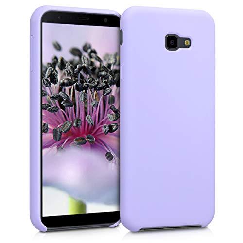 kwmobile Cover compatibile con Samsung Galaxy J4+ / J4 Plus DUOS - Custodia in silicone TPU - Back Case protezione cellulare lavanda