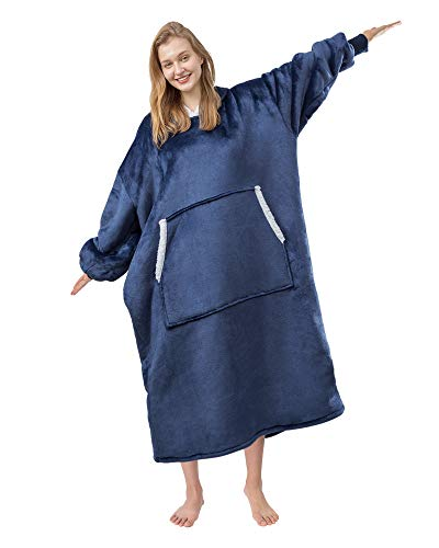 Angelhood Blanket Hoodie Wearable Blanket,Super Soft Warm Oversized Blanket Sweatshirt Flannel...