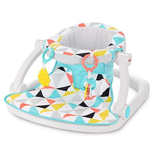 Fisher-Price GGC50 Sit-Me-Up Asiento de Piso, Molino de Viento, Silla portátil para bebé