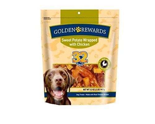 Golden Rewards Sweet Potato Wrapped with Chicken 32oz bag (1)