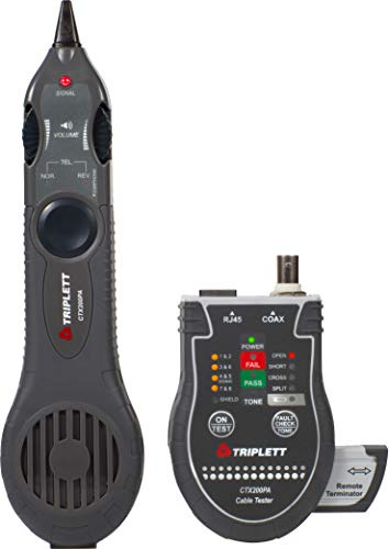 Triplett Network Cable RJ45/Coax Tester with Inductive Probe - Performs Complete TIA568 Test (CTX200PA)