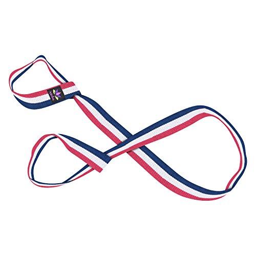 Veda - Correas ajustables para llevar alfombrillas de yoga de todos los tamaños, Rojo, blanco y azull