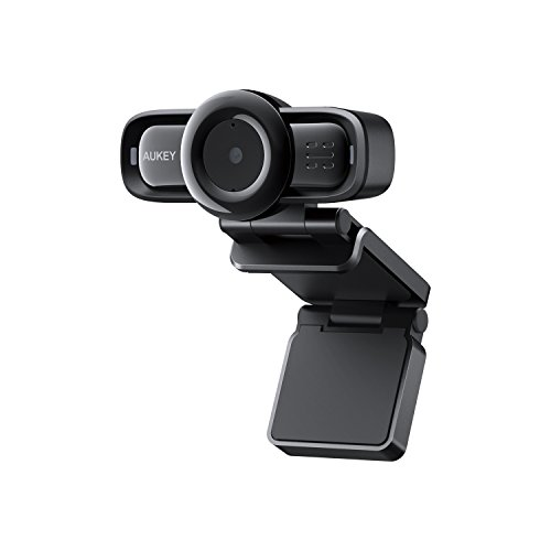 AUKEY Webcam 1080p Full HD with Autofocus, Noise Reduction Microphones, USB Webcam for Widescreen Video Calling and Recording