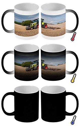 Zaubertasse Farbwechseltasse Kaffeebecher Tasse Becher Latte Cappuccino Espresso Nostalgie Beruf Landwirt