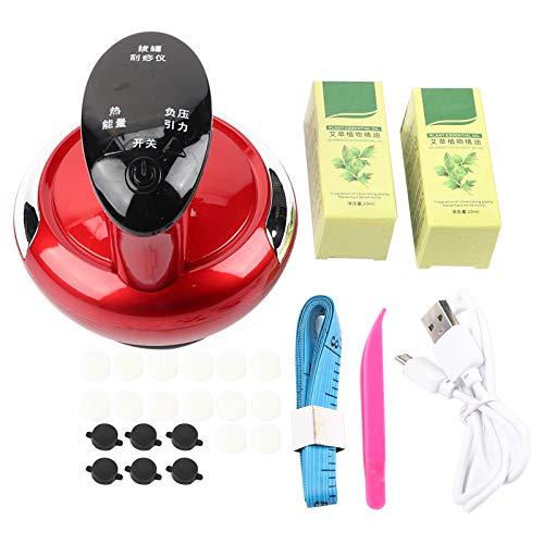 Masajeador de raspado eléctrico, ventosas de mano Dispositivo de masaje Gua Sha...