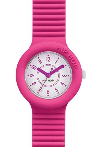 Hip Hop Watches - Orologio da Donna Fucsia Purple HWU0629 - Collezione Numbers - Cinturino in Silicone - Impermeabile 5 ATM - Cassa 32mm - Fucsia