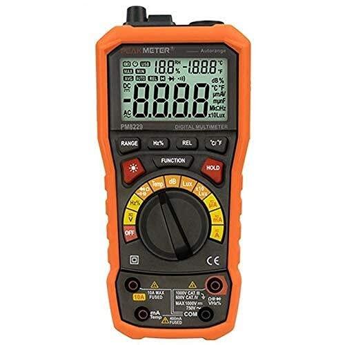 LXGANG lMultímetro digital PM8229 5 en 1 Auto multímetro digital con múltiples funciones Lux Nivel de sonido de frecuencia humedad de la temperatura del metro del probador probador digital multifuncio