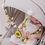 Baby Teether de Madera PRAM Clip Baby Mobile PRAM Silicone Aguacate Dientes Colgante Cadena Cadena Móvil Holder Holder Coche Toy (Color : Silicone Set)