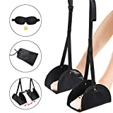 GIMSUN Portable Airplane Footrest,Separate Foot Hammock Under Desk Footrest,Travel and Office Essentials with Hang Feet,Sleep Mask,Ear Plugs