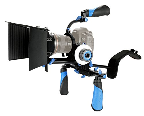 eimo DSLR Rig Set Movie Kit shoulder mount rig with Follow Focus and Matte Box and Top handle for All DSLR Cameras and Video Camcorders