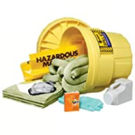 Enpac 1320-BAT 51 Piece 20 Gallon Salvage Drum Battery Acid Spill Kit, 43 Gallon Spill Capacity
