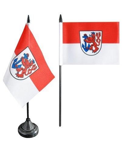Flaggenfritze® Tischflagge Deutschland Stadt Düsseldorf - 10 x 15 cm