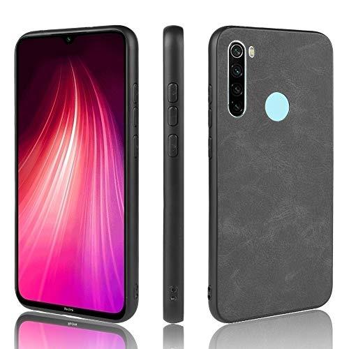 BAIYUNLONG Funda Protectora, For Xiaomi redmi Nota 8 a Prueba de Golpes PC Piel de Las ovejas + PU + TPU Caso (Negro Luz) (Color : Light Black)