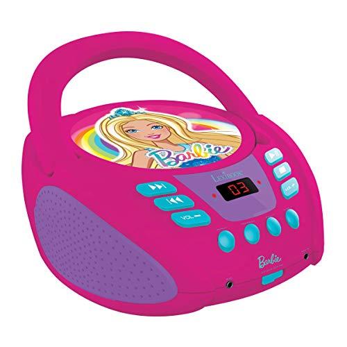 Lexibook Barbie Boombox CD-Player, Mikrofonanschluss, AUX-Eingangsbuchse, AC-Betrieb oder läuft mit Batterien, Pink, RCD108BB_10