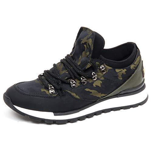 Barracuda F3140 Sneaker Uomo Black/Green Tissue Scarpe Camouflage Shoe Man [40]