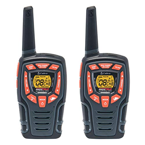 Cobra CXT565 Walkie Talkies 28-Mile Two-Way Radios, Rechargeable (Pair),Black