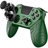 Wireless Controller for PS4 Customizable Controller Remote with Programmable Rear Buttons Turbo and and audio function Gamepad Joystick Controller for PS4/PS4 Pro/PS Slime - Green