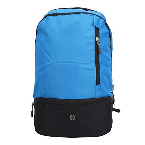 Se Divierte la Mochila, Mochila Azul de Nylon Antiarrugas del Baloncesto, Mochila para Caminar(Blue)