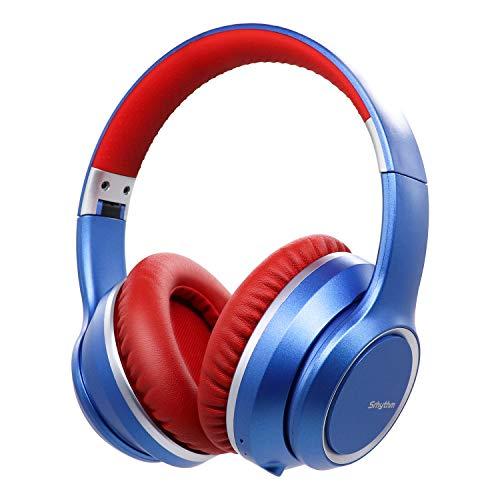 Auriculares con Cancelación de Ruido Inalámbrico Bluetooth 5.0, Srhythm 2020 Version NC15 Over-Ear Plegable con Micrófonos para Clase en Línea/Oficina en el hogar/TV/PC/Teléfono
