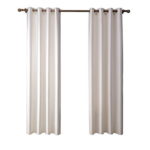 Vorhänge Bleistiftfalte Blackout Wärmeisolierte Geräuschreduzierung Vorhang Vorhänge Raum Verdunkelung & Energiesparende Ösen Vorhang Für Schlafzimmer Wohnzimmer Kinderzimmer,140X260cm(55X103inch)