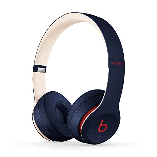 Beats Solo3 Wireless - Auriculares supraaurales - Chip Apple W1, Bluetooth de Clase 1, 40 horas de sonido ininterrumpido - Colección Beats Club - Club Navy