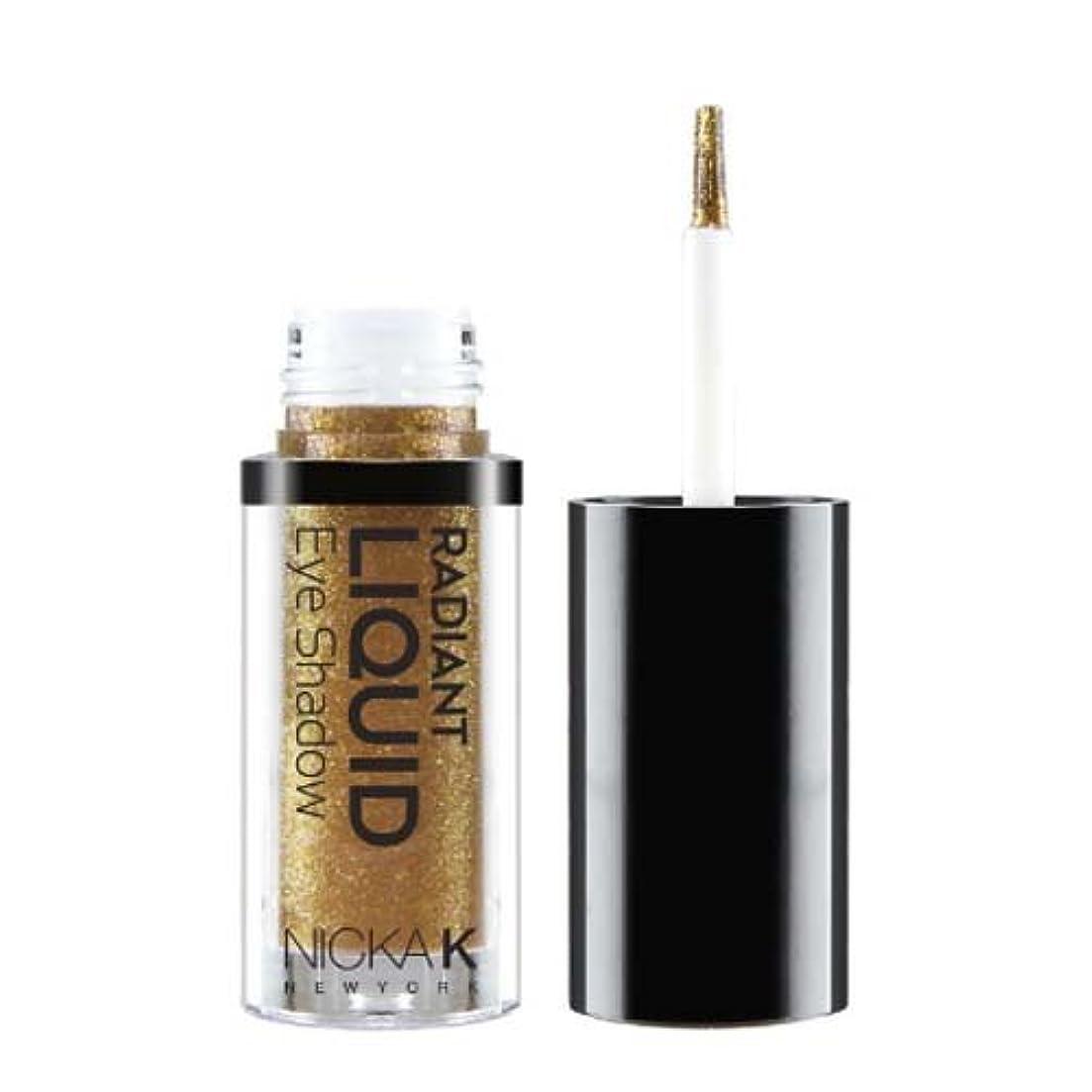 パンフレット沈黙ほとんどの場合NICKA K Radiant Liquid Eye Shadow - Golden Gemma (並行輸入品)