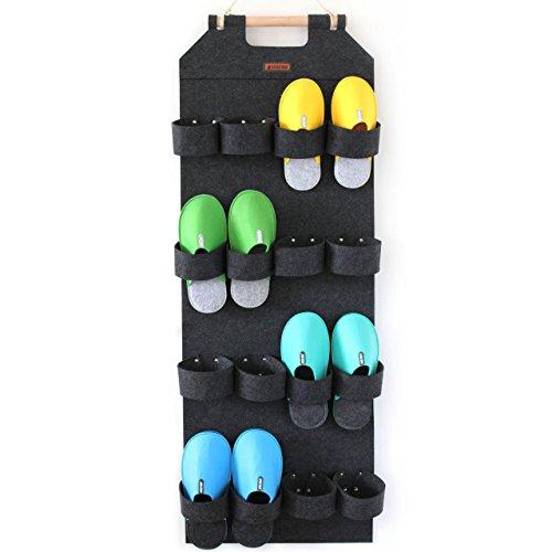 Schuhorganizer Tür Schuhaufbewahrung 8 Paar LuckySign(Dunkelgrau)