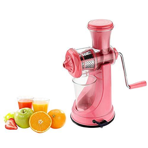 Prensa manual manual Exprimidor de frutas Exprimidor de jugo de metal Exprimidor de naranja resistente Exprimidor de cítricos Limón Limón con sistema de bloqueo de vacío (Rosa)