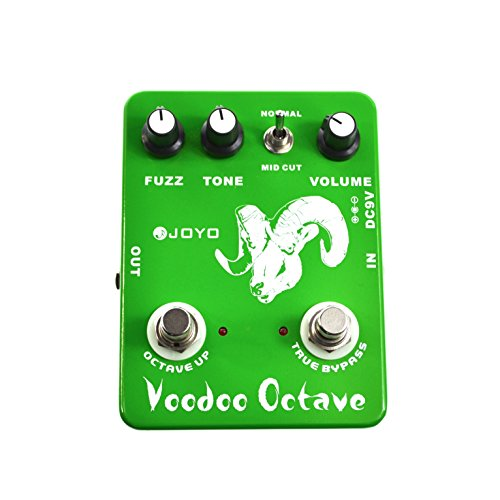 Joyo Ultimate Octave Fuzz - Pedal multiefectos para guitarra (distorsión, fuzz, batería zinc carbono), verde