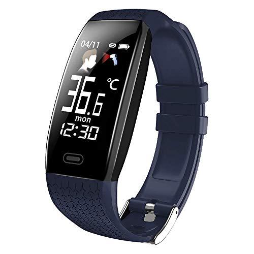 WMY Termómetro de medición, termómetro de Reloj Inteligente, Reloj Inteligente de medición de Temperatura, Pulsera de Alerta de Fiebre, rastreador de Actividad Deportiva, para