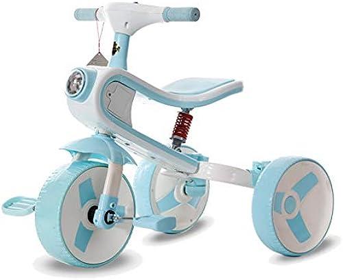 Kinder Dreirad Trikes, Kinderfürrad 3-6 Jahre alt Falten 2 In 1 Baby Roller mit Musik Lichter mädchen Junge (Farbe   C)