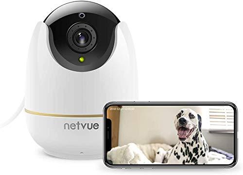NETVUE Camera IP Telecamera di Sicurezza IP WiFi Full HD 1080p con Allarme di Rilevazione di Movimento, Zoom Digitale 4x,...