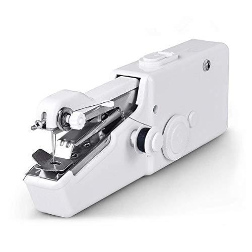 Greatangle Máquina de Coser portátil de Mano Blanca Handy Stitch multifunción Mini Accesorios de máquina de Coser eléctrica enviados al Azar Blanco