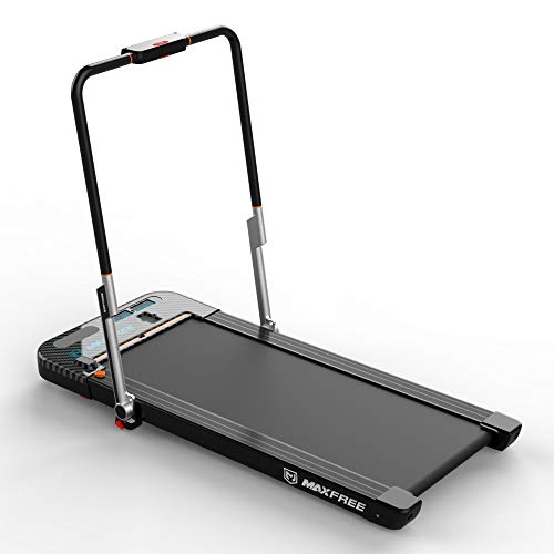 MAXFREE Folding Treadmill, 2 in 1 Under Desk Treadmill, Portable Walking and Running...