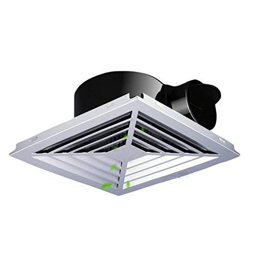 MLZWS Ventilador de ventilación, Blanco del Cuadrado de Techo o de Montaje en Pared Extintor, Muy Tranquilo Techo del baño Extintor