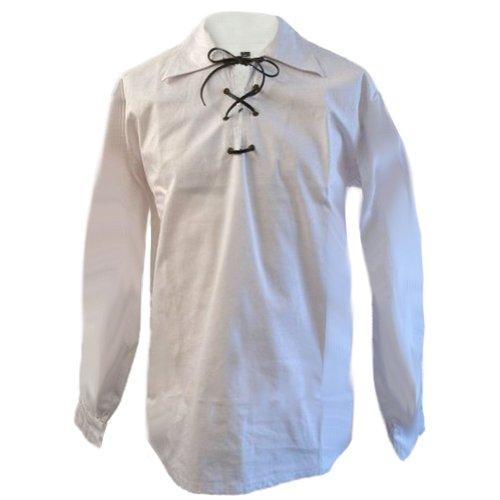 Tartanista - Jungen Jakobiter-/Ghillie-Hemden - Weiß - Jungen 11-12 Jahre - 91 cm