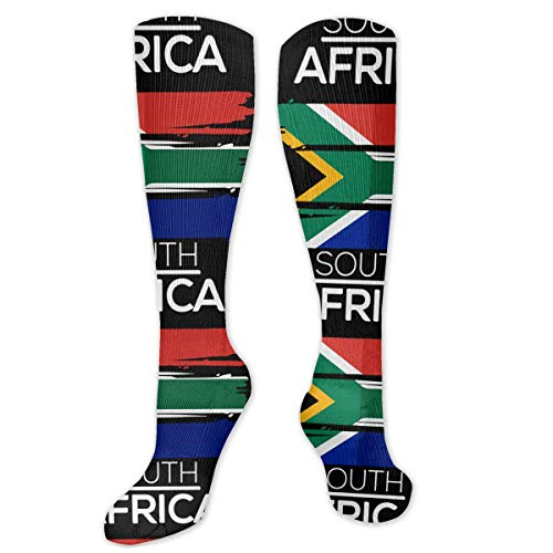 South Africa Flag Compression Socks Best For Athletic Sports Outdoor Activities Medical -Running & Fitness