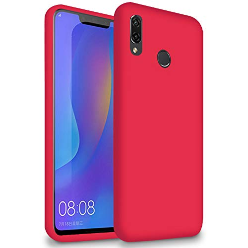 5.8 Ultra-Slim Housse Rouge pour Huawei Honor Play | TPU Coque Couleur Unie